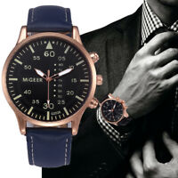 Casual Men's Retro Leather Stainless Steel Analog Sport Quartz Dial Wrist Watch