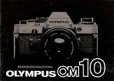 Instruction User's Manual Olympus OM 10 German