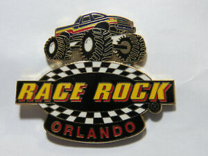 "Race Rock Monster Truck Racing Pin Orlando 1 1/2"" Ex Lg Monster Truck Lapel Pin"