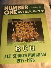 Beloit Catholic High School BCH All Sports Program 1977 1978 WISAA-77 Number One