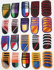 Dealer Lot of 100 Army Unit Insignia Flash & Oval Military Beret Patches - 100A