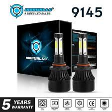 HB3 9145 9005 LED Headlight 4-Sides 2400W 360000LM 6000K Bulbs Car Lamps Xenon