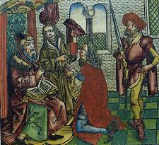 INKUNABELBLATT SCHEDEL WELTCHRONIK MISSGEBURT UNWETTER MACHOMET DER ARABIER 1493