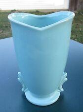 """Vintage McCoy Large 9 1/4""""H Blue Green / Turquoise Vase."""
