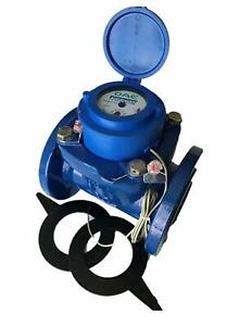"DAE WP-200P 2"" Woltmann Helix Water Meter, Pulse Output, Gallon"