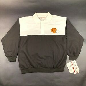 NEW Vintage Cincinnati Bengals Polo Rugby Shirt Mens L Black White Button Neck