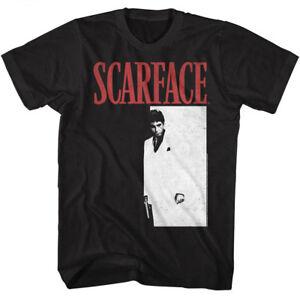 Scarface Tony Montana Men's T Shirt Movie Poster Pacino Vintage Black Gangster