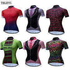 New Women Sports Clothing Cycling Jersey Bike Short Sleeve Bicycle Shirts XS-3XL