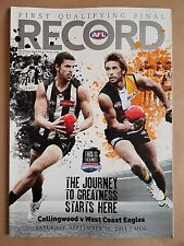 AFL Record - 2011 First Qualifying Final - Collingwood vs West Coast Eagles