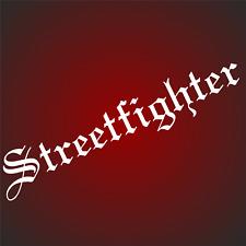 1 Streetfighter 35 x6cm  Aufkleber Motorradaufkleber  Autoaufkleber Racing V8 F