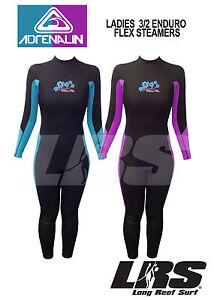 NEW Adrenalin ENDURO FLEX Ladies Steamer Wetsuit Long arm & Leg 3/2mm Wet Suit