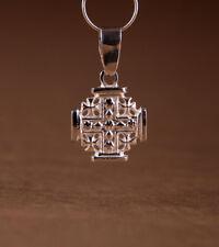 Jerusalem Kreuz Symbol Anhänger Silber 925 Amulette klein 1,6 cm            2,1g