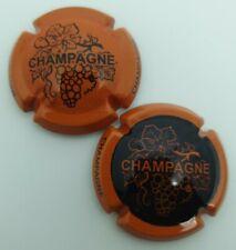 2 Capsules de champagne Générique orange noir.TM
