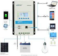 EPEVER TRIRON 20A 30A MPPT Solar Charge Laderegler 12V/24V Auto PV 100V 2USB Neu