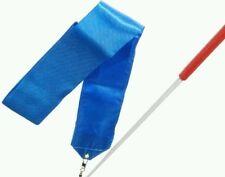 NEW GYM DANCE RIBBON  BLUE  RIBBON Rhythmic Art Gymnastic Streamer  Baton ROD