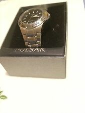 Men's Pulsar Stainless Steel 100M Water Resistant Watch