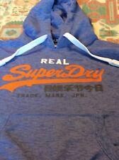 Mens Superdry Blue hoodie size L