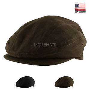 Morehats Suede Warm Newsboy Cabbie Irish Cap Gatsby Golf Irish Hunting Hat Fall