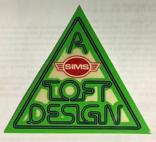 Sims Lonnie Toft triangle skateboard sticker from the 70's