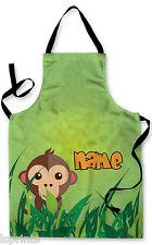 Personalizado Selva Mono Delantal para niños Horneado Pintura Agua