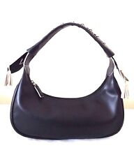 Tosca Blu Handbag Black Split Leather Designer Hobo Bag Purse