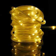 39.4ft 100LED Solar Power Rope Tube Lights Strip Waterproof Outdoor Garden Party