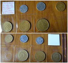 LOTTO 6 MONETE COSTA RICA  5 10 25 50 100 500 COLONES 1 DOLLARO SUBALPINA