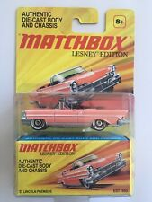 2010 Matchbox Lesney Edition PINK 1957 LINCOLN PREMIERE CONVERTIBLE LUXURY COUPE