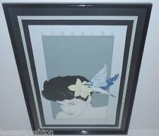 PATRICK NAGEL LORRAINE HAND SIGNED SERIGRAPH SILKSCREEN MIRAGE EDITIONS FINE ART