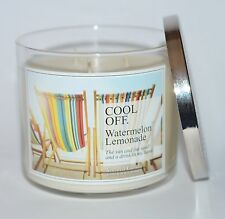 BATH BODY WORKS COOL OFF WATERMELON LEMONADE SCENTED CANDLE 3 WICK 14.5OZ LARGE