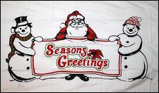 CHRISTMAS SEASONS GREETINGS XMAS 5 X 3 FEET FLAG FLAGS YULETIDE SANTA SNOWMAN