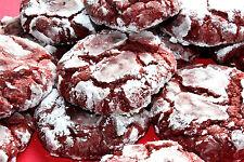 4 Dozen Homemade Red Velvet Crinkle Cookies+Gift Box, AllDayBaking,free shipping