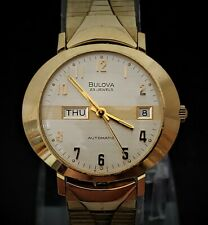 Vintage 1973 BULOVA 23 'President' Automatic Day/Date Mens Watch -Mint In Box