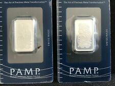 PAMP Suisse Lady 10 Gram 999 Silver Bar. Sealed WITH SERIAL NUMBER, 2 AVAILABLE