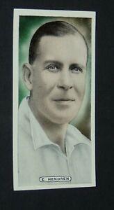 ARDATH CIGARETTES CARD 1935 CRICKET CELEBRITIES #4 E. HENDREN MIDDLESEX