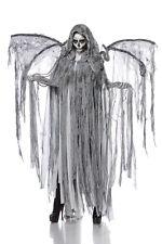 SEXY Halloween costume ANGELO DELLA MORTE taglia unica mantello+ali set completo