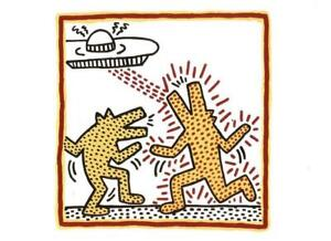 """Postcard Keith Haring """"Untitled"""" 1982 The Broad Museum, Los Angeles MINT"""