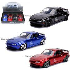 Jada 1:24 JDM Tuners 1990 Mazda Miata MX-5 Black/Red/Blue Diecast Model Car New