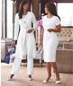 Ashro Formal White Pant Dress Suit Ladara Wardrober 6 8 12 14 16 16W 20W 22W 26W