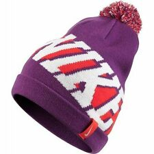 Nike Pom Beanie Hat Youth Children's Purple, Pink, White 718797 513 NWT