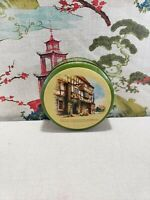 VINTAGE COOKIE TIN OLD ENGLISH INN GEORGE NORTON ST. PHILIP OLD BISCUIT CANISTER