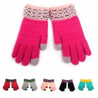 Kids' Two Tone Smartphone Usable Touchscreen Sensitive Winter Gloves (1013JFG)