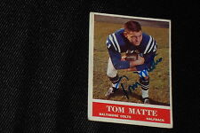 TOM MATTE 1964 PHILADELPHIA ROOKIE SIGNED AUTOGRAPHED CARD #6 COLTS