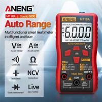 M118A Digital Multimeter True RMS AC/DC Voltage Current Meter NCV Tester Tool