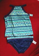 South Point Racer Back High Neck Sz 14 or 16   Tankini set Retail $88