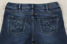 Silver Aiko Boot Cut Size 30 Dark Wash Stretch Jeans Inseam 34