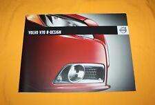 Volvo V70 R-Design 2009 Prospekt Brochure Depliant Catalog Prospetto Folder