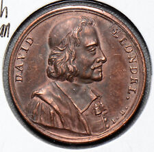 France   Medal  david blondel french historian F0101 combine shipping
