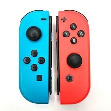 OEM Nintendo Joy-Con Wireless Controllers for Switch - (Teal / Neon Red) Pair