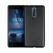 For Nokia 8 3 5 6 Slim Carbon Fiber Silicone Shockproof Soft Rubber Case Cover
